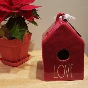 """Rae dunn """"LOVE"""" Birdhouse"""